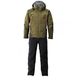 Completo Shimano Gore Tex Suit Olive Armeria Due Punti Sport